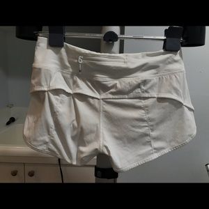 lululemon athletica Shorts - White Lululemon Speed Shorts Size 4 - BARELY WORN!